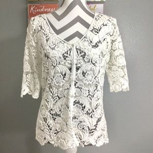 Tops - Crocheted button cover up